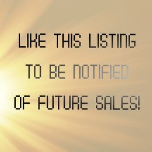 Like this listing to be notified of new sales!
